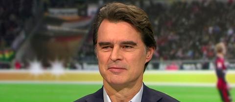 """Der Fußballspieler Thomas Berthold in der Sendung """"Heimspiel!"""""""