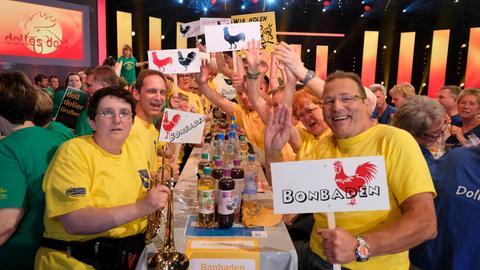 """Fans aus Bonbaden beim """"Dollen Dorf""""-Finale"""