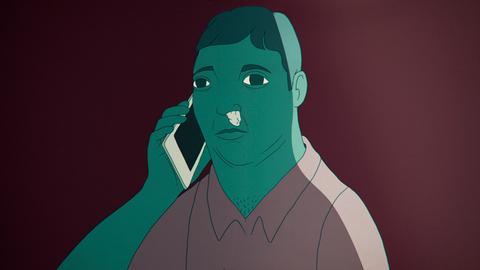 Filmstill aus dem Animationsfilm RRRING RRRING! von Thomas Kneffel