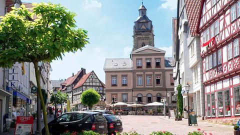 Blick auf den Marktplatz von Bad Wildungen