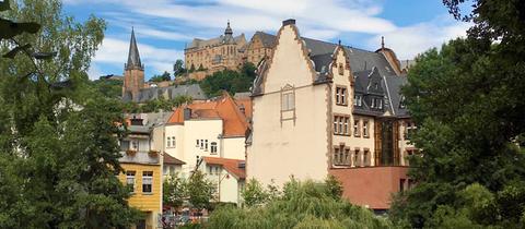 Blick auf die Marburger Altstadt mit dem Schloss