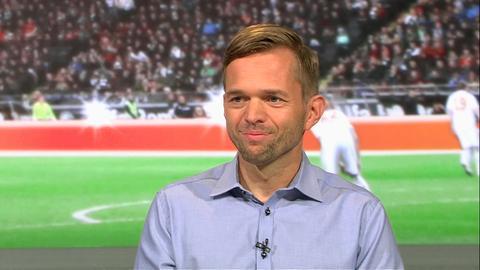 """Jochen Drees, Leiter des Bereiches Videobeweis beim Deutschen Fußball-Bund, im """"Heimspiel!"""""""