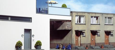 """Frank Kunerts Miniaturmodell """"Ein Platz an der Sonne"""""""