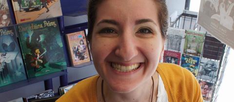 Die Offenbacher Comicautorin Christina Plaka