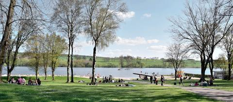 Blick auf den Nieder-Mooser See