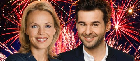 Petra Neftel und Danijel Stanic moderieren den großen hr-Silvestercountdown