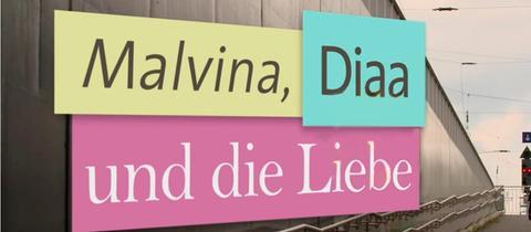 """Logo """"Malvina, Diaa und die Liebe"""""""