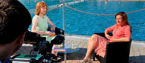 Ute Wellstein im Interview mit Janine Wissler