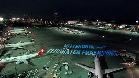 Blick auf den Frankfurter Flughafen