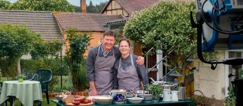 Dieter Voss mit Katja Hack