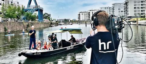 Andreas Hieke moderierte auch die Hessenschau-Sommertour 2019