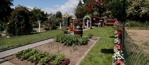 Blick auf Peter Richters Garten