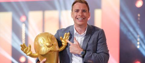 """Freuen sich auf das """"DoDo""""-Finale auf dem Hessentag: Jens Kölker und der Goldene Onkel Otto"""