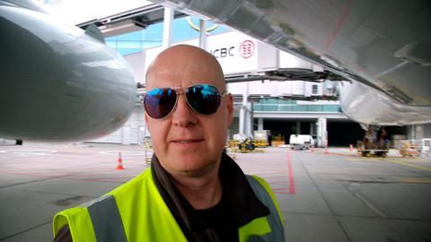 Flughafen-Mitarbeiter Mario Hahn.