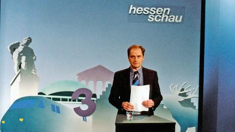 Holger Weinert in der Hessenschau-Kulisse von 1991
