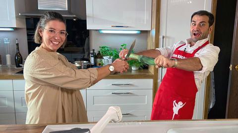 Stefanie Pieper aus Neustadt fordert Koch-Profi Ali Güngörmüs mit einem vegetarischen Familiengericht heraus.