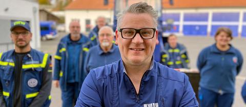Klaus Breinig und Mitarbeiter*innen des THW Bad Hersfeld
