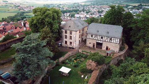 Schloss Homberg Ohm von oben