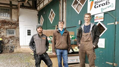 Niklas, Florian, Malte vom Biohof Groß.