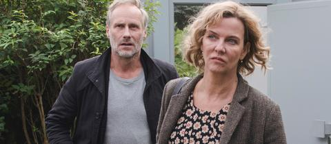 Margarita Broich und Wolfram Koch als Frankfurter Tatort-Duo Anna Janneke und Paul Brix