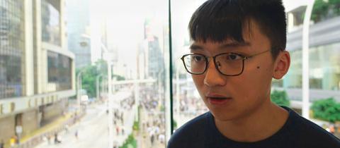 Isaac Cheng Ka Long, einer der informellen Sprecher der Hongkonger Demonstranten
