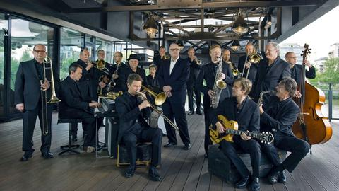 Die hr-Bigband mit Chefdirigent Jim McNeely