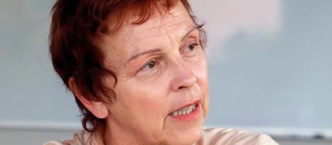 Die Spitzenkandidatin der Linken für die Bundestagswahl, Sabine Leidig.