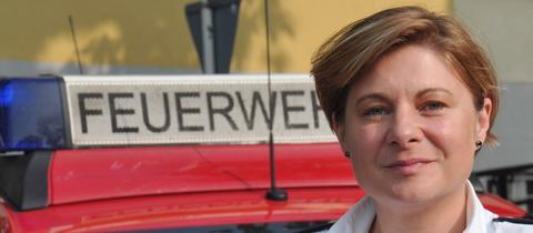 Kreisbranddirektorin Tanja Dittmar aus Bad Hersfeld