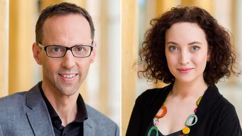 Hartmut Hoefer und Isabelle Dollinger