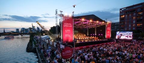 Das hr-Sinfonieorchester beim Europa Open Air 2017.