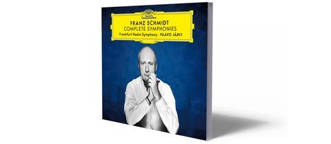 """Cover der CD-Edition von """"Franz Schubert: Complete Symphonies - Das hr-Sinfonieorchester Frankfurt unter der Leitung von Paavo Järvi""""."""