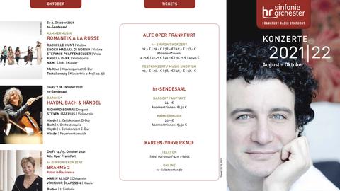 hr-Sinfonieorchester Flyer August-Oktober 2021/2022