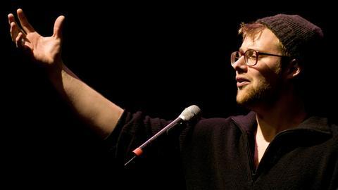 Lars Ruppel in der hr1-Satire-Lounge Frankfurt
