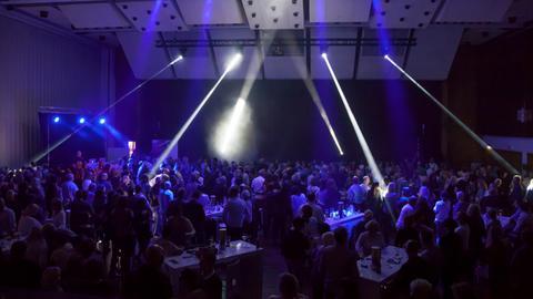 Der hr1-Dancefloor in der Kongresshalle Gießen