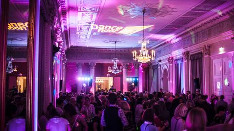 Der hr1-Dancefloor im Weissen Saal Hanau