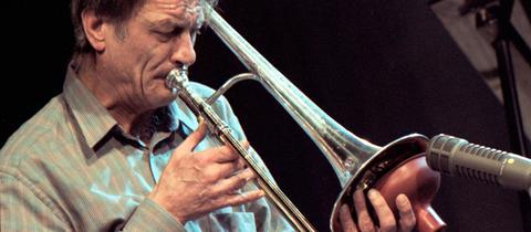 Albert Mangelsdorff im Jahr 1986