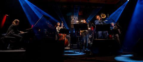 Die German All Stars beim 50. Deutschen Jazzfestival Frankfurt im hr-Sendesaal