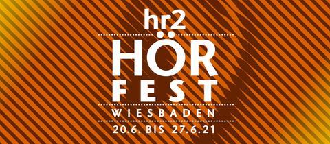 Logo und Datum des hr2 Hörfest in Wiesbaden 2021