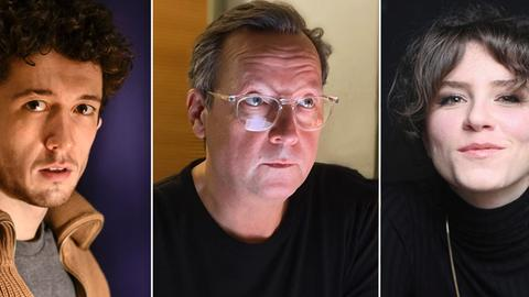 "Hörspiel ""Blackbird"": Maximilian Mundt, Matthias Brandt, Lotte Schubert"