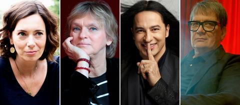 Eva Menasse, Elke Heidenreich, Bülent Ceylan und Sven Regener