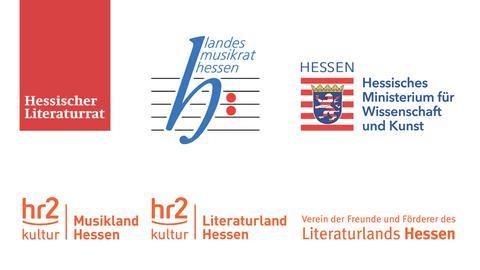"""""""Ein Tag für die Literatur und Musik""""- Logos der Veranstalter"""
