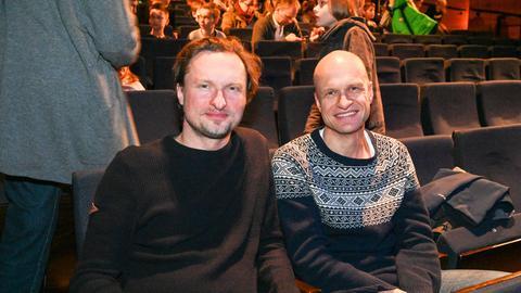 Stefan Kaminski (links) und Martin Muser bei der Kinder-Hörgala 2019 im Staatsthater Wiesbaden