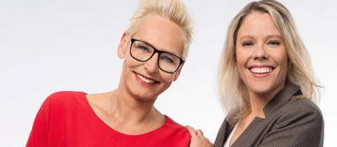Moderatorin Bärbel Schäfer und Redakteurin Monika Martino
