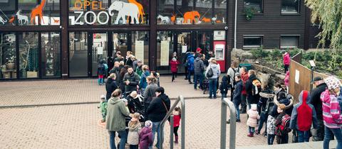 """Das """"hr3-Kürbisfest"""" im Opel-Zoo in Kronberg sorgte für großen Andrang"""