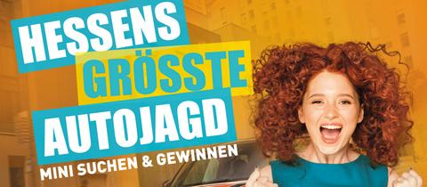 """Logo-Grafik zur Aktion """"Hessens größte Autojagd"""" von hr3 und YOU FM"""
