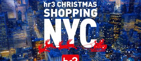 "Aktionslogo ""hr3-Christmas Shopping NYC"""