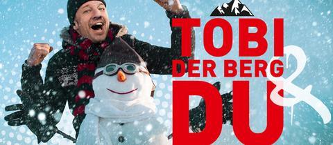 """Grafik/Montage zur hr3-Aktion """"Tobi, der Berg und Du"""""""