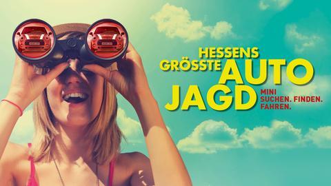 """Bildmarke zur Aktion von hr3 und YOU FM """"Hessens größte Autojagd""""."""