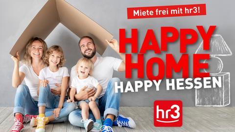 """Bildmarke zur Aktion """"Happy Home! Happy Hessen! – Miete frei mit hr3"""""""