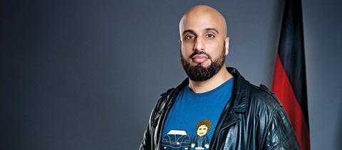 Der deutsch-marokkanischer Komiker, Kabarettist und Fernsehmoderator Abdelkarim